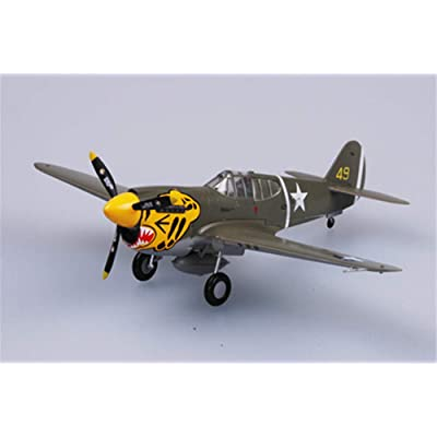 Easy Model WWII P-40 E Warhawk 11FS 343FG 1942 1/72 Finished Plane: Toys & Games