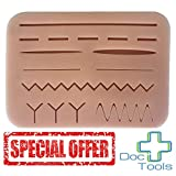 Doc Tools Large Suture Pad with Wounds - Light Skin