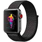 ieLive Sport Band for Apple Watch 42mm, Soft Lightweight Breathable Nylon Sport Loop Replacement Strap for iWatch Apple Watch Series 3, Series 2, Series 1, Hermes, Nike+, Edition