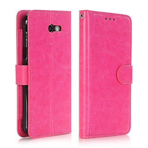 Samsung J3 Eclipse Case,Samsung Galaxy J3 Prime Case Wallet with Card  Holder,Pink Samsung Galaxy J3 Case with Kickstand, Rubber Galaxy J3 Emerge  Case
