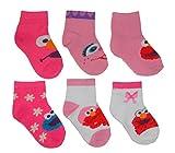 Sesame Street Baby Girls' Elmo Socks 6 pk