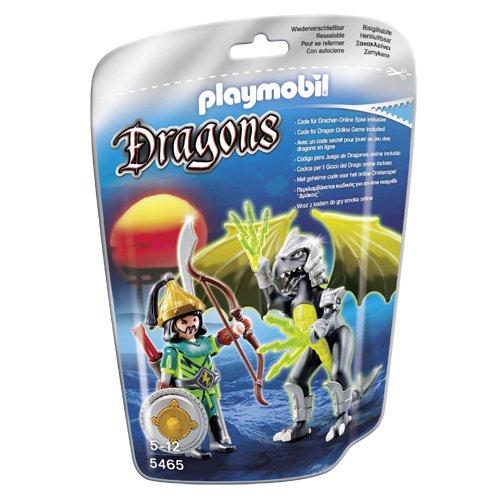 Playmobil Dragones - Dragón Tormenta con guerrero (5465)