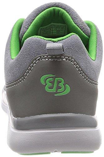 Bruetting Unisex-Erwachsene Dallas Slipper Slip on Sneaker, Grau (Grau/Gruen), 36 EU