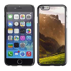 EJOY---Cubierta de la caja de protección la piel dura para el / iPhone 6 / --Ilustración de la montaña