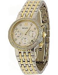 Bulova Two-Tone Gold Diamond Watch