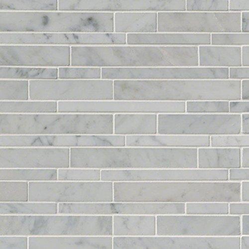 MS International SMOT-CAR-RSP Carrara White RSP Interlocking Pattern Polished Mosaic Tiles by MS International