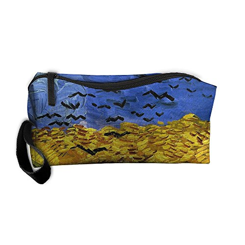 Portable Outdoor Cosmetic Toiletry Clutch Bag Accessories Organizer Case Travel Home Use Zipper Oxford Full Harvest Storage Pouch Pencil (Harvest Pencil)