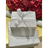 Silver Glitter Sparkle Gift Wrapping Paper For Wedding, Birtday, All Occasions - 27.5'' x 192''