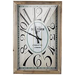 American Art Decor Old Town London Retro Wooden Wall Clock