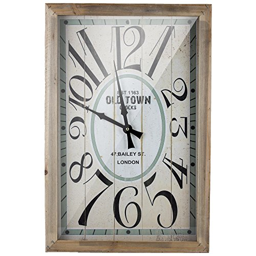 Clock Vintage American Retro - American Art Decor Old Town London Retro Wooden Wall Clock