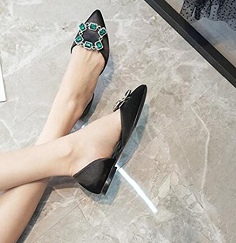 KUKI Rhinestone Freizeit wies Schuhe sexy dünne hohle flache Schuhe auf , 2 , US6 / EU36 / UK4 / CN36