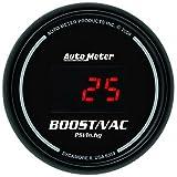 Auto Meter 6359 Sport Comp Digital 2-1/16'' 30 In Hg.-Vac./30 PSI Digital Vacuum/Boost Gauge