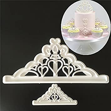 Amazon.com: 1 piece Plastic Fondant Cutter Cake Mold Cake Decorating Tools Cookies SugarChocolate Mold Moldes Para Reposteria baking tools for cakes: ...