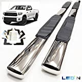 "LEDIN Running Board Chrome Oval 5"" Side Step Nerf Bar for 2007-2018 Toyota Tundra Double Cab"