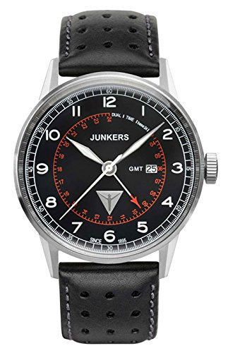 Junkers G38 Series, 42mm Quartz GMT Dual Time Watch 6946-2