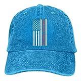 Yuan Kun Unisex Adjustable Denim Baseball Caps Scuba Diving American Flag Hiphop Cap