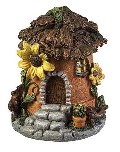 Evergreen Garden New Creative Outdoor-Safe Mini Garden Polystone Fairy Houses, Set of 4-5.5'' W x 5.75'' D x 6.75'' H by New Creative (Image #3)
