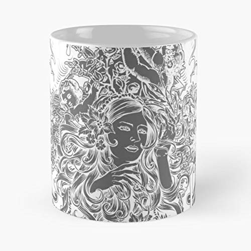 Flowers Flower Bouquet Rose -funny Gifts For Men And Women Gift Coffee Mug Tea Cup White-11 Oz.