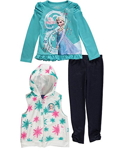 [Frozen Toddler Girls 3 Piece Vest Legging Set (2t)] (Frozen Outfit For Toddlers)