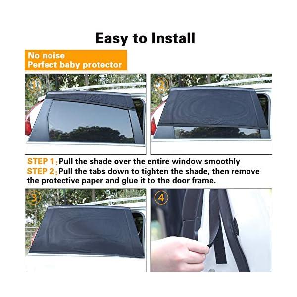 PEYOU Tendine Parasole Auto Bambini [2020 Version,2 Pezzi] Tendina Parasole per Finestrino Laterale dell'auto per… 4 spesavip