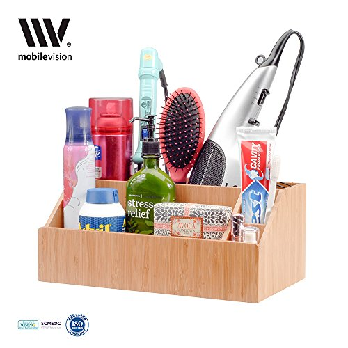 MobileVision Bamboo Bathroom Organizer Products