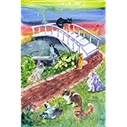 Rainbow Bridge Pet Sympathy Card for Cats