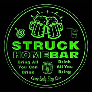 4x ccq43653-g STRUCK Family Name Home Bar Pub Beer Club Gift 3D Engraved Coasters