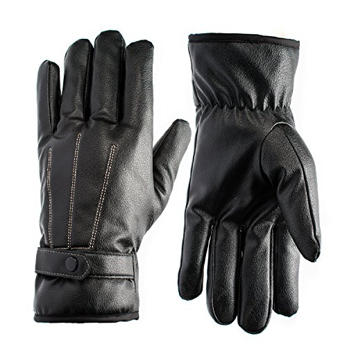 FAMY Quality Men's Winter Outdoor Extreme Winter Touchscreen Classic Motorcycle Gloves Cycling Soft Simulated Leather Windproof Waterproof Touchscreen Gloves