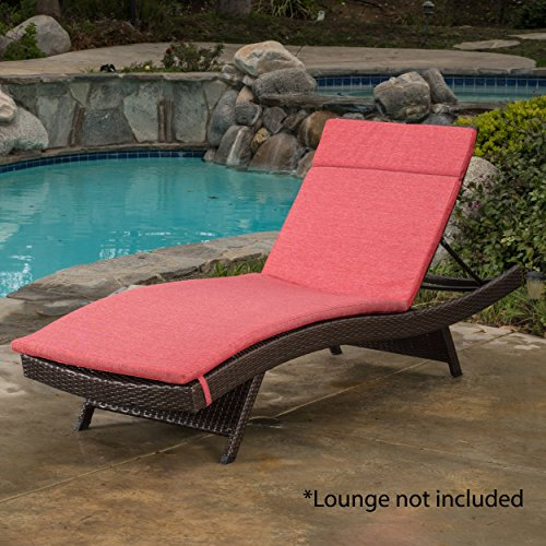 Christopher Knight Home 300984 Sienna Ckh Outdoor Chaise Lounge Cushion, Red