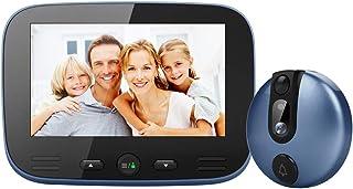 XCUGK Spioncino Digitale Porta Video Campanello da 4,3 Pollici, Sicurezza Domestica Spioncino con rilevazione del Movimento del Campanello con Fotocamera Scatta Foto e registra Video