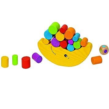 Stapelspiel Balancierfrosch ca Balancespiele Holzspielzeug 16 x 2 x 8 cm  Geschicklichkeitsspiel Holz