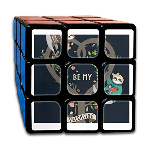 Be My Valentine Vintage Speed Cube 3x3 Smooth Magic Cube Puzzle Game Black]()