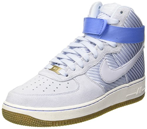 NIKE AIR Force 1 HI PRM Womens Basketball-Shoes 654440-401_6 - Porpoise/Porpoise