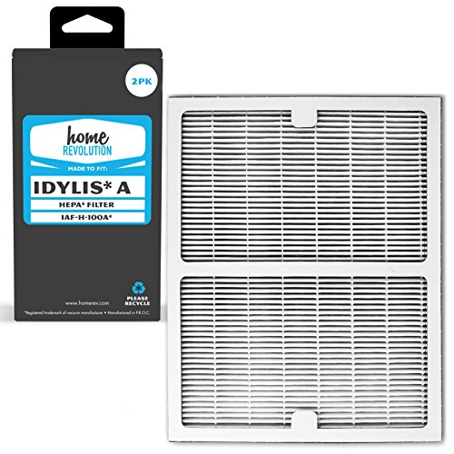 Home Revolution 2 Replacement HEPA Filters, Fits Idylis IAP-10-100 and IAP-10-150 Air Purifiers and Type A Part IAF-H-100A