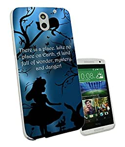 628 - Alice in Wonderland Quote There is a place Like No Place on on earth Full Of Wonder Design htc Desire 620 Fashion Trend CASE Gel Rubber Silicone All Edges Protection Case Cover