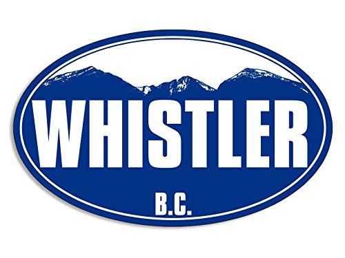 Whistler Snow - Blue Mountain Oval WHISTLER Sticker (snow ski BC canada skiing resort)