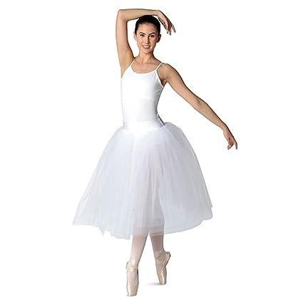 16e2cd557 DanzNmotion by Danshuz Women's Professional Romantic Tutu Skirt, White, ...