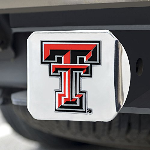 (FANMATS NCAA Texas Tech Red Raiders Texas Tech Universitycolor Hitch - Chrome, Team Color, One Size)
