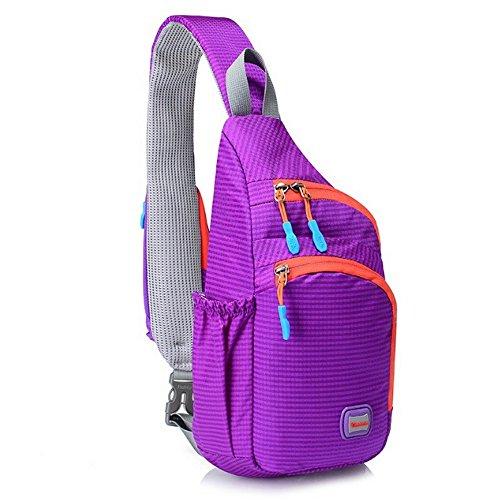 Crossbody Daypack Resistant Hiking Bag for Water Bag Sling Men Cross Compact School Women CATOP Body Purple Shoulder Lightweight q1EPwOwxX