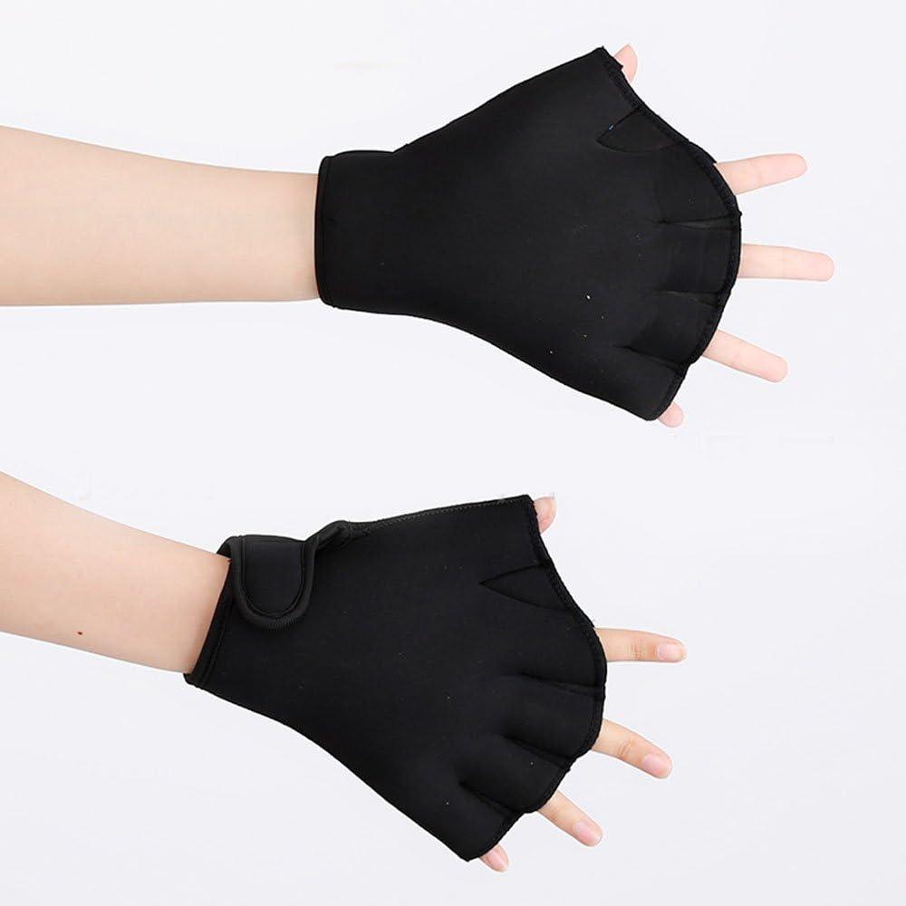 Efanr 1 Pair Training Aqua Fit Swim Webbed Gloves Aquatic Fitness Water Resistance Gloves for Women Men Children
