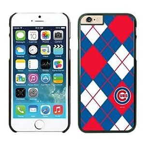 LarryToliver DIY Unquie Phone Case Baseball Chicago Cubs fit for iPhone 6 Cases-Black(4.7inch)