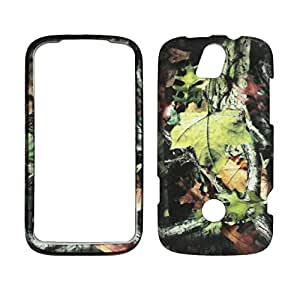 2D Camo Trunk Leaf Huawie My Touch Q U8730 T-Mobile Hard Case Snap-on Rubberized Touch Case Cover Faceplates