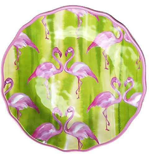 Cynthia Rowley Pink Flamingo Melamine Dinner Plates - Set of 4