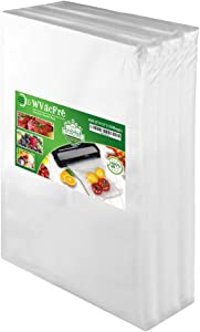 WVacFre 100 Quart Size 8x12Inch Food Saver Vacuum Sealer Bags with Commercial Grade,BPA Free,Heavy Duty,Great for Food Vac Storage or Sous Vide Cooking