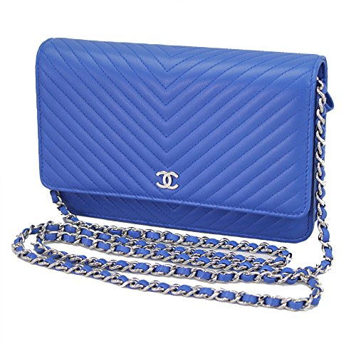 chanel-chevron-v-stitch-blue-leather-chain-wallet-a33814