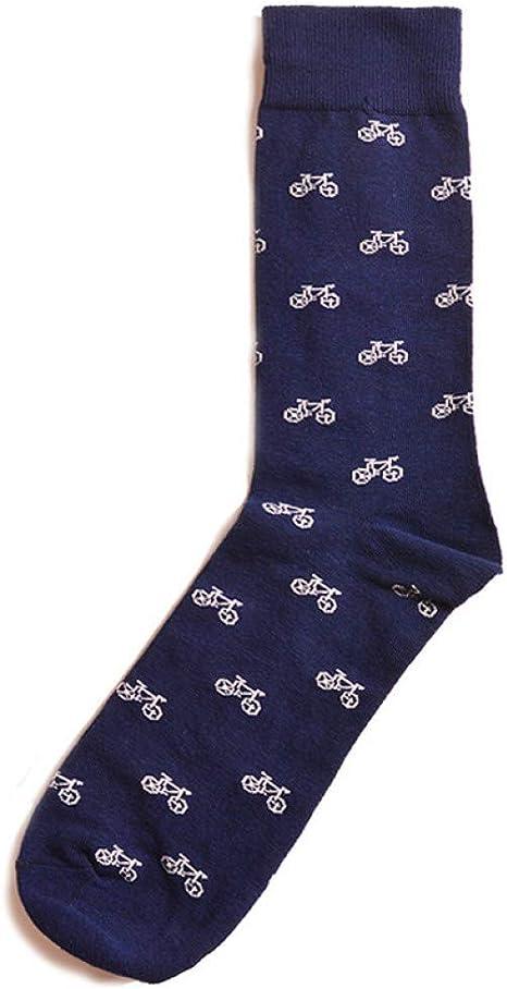 5 pares de calcetines de hombre de algodón peinado Jacquard de dibujos animados La música geométrica conforma calcetines de vestir de negocios masculinos calcetines de regalo de boda sox, H 5 pares: