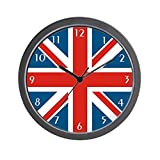 Cheap CafePress – British Flag Wall Clock – Unique Decorative 10″ Wall Clock