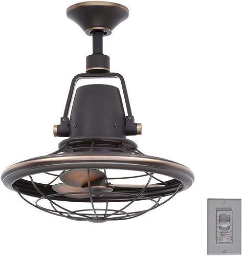Home Decorators Collection Bentley II 18 Inch Indoor and Outdoor Tarnished Bronze Oscillating Ceiling Fan