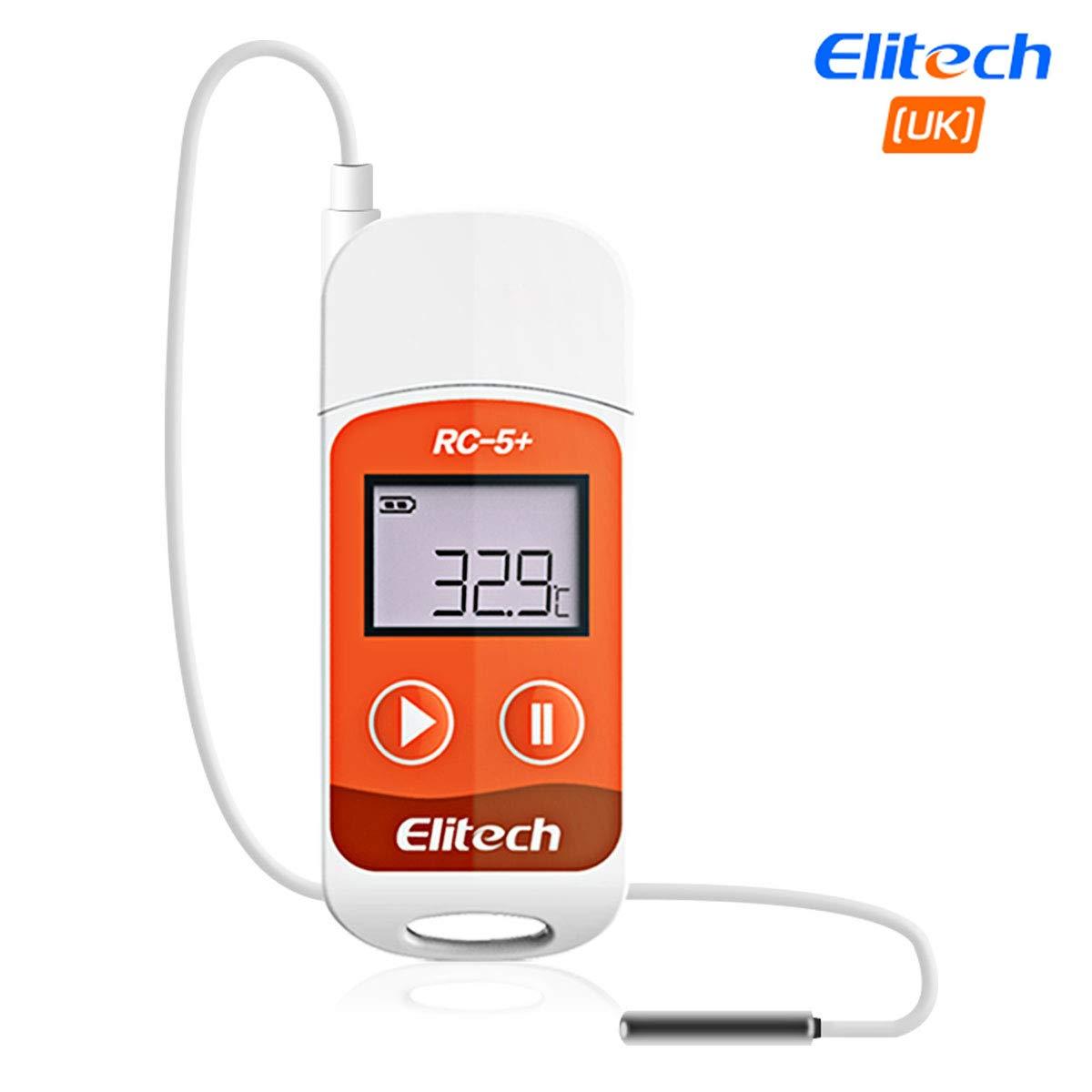 Registrador de datos de temperatura Elitech RC-5+