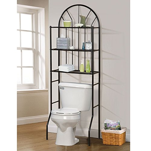 Home Source Bathroom Space Saver, Black by Home Source